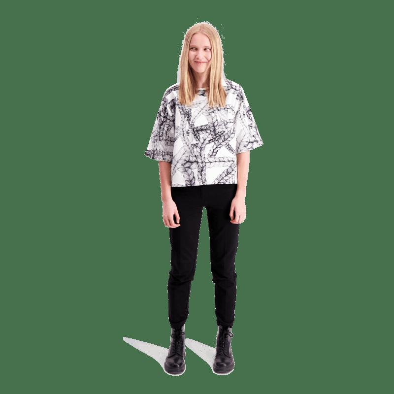 Vimma Sweatshirt 34 sleeves VOITTO Letti black-white Onesize - black-white, letti, Onesize, Sweatshirt / 3/4 sleeves, VOITTO