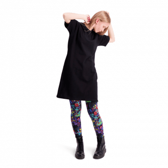 Vimma leggings KAINO Crazy Cats black-colourful XS-XL - black-colourful, Crazy cats, KAINO, leggings, XS-XL