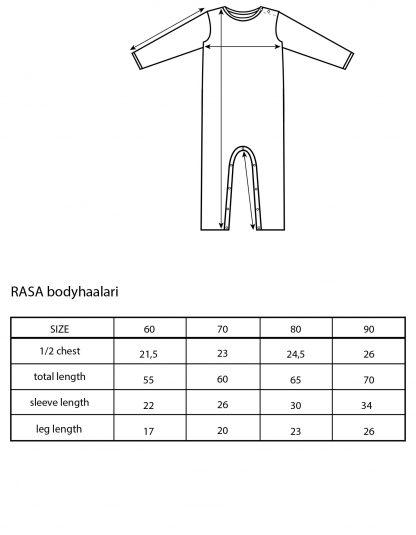 Vimma Jumpsuit RASA letti Huurre 60-90cm - 60-90cm, braid, Huurre, Jumpsuit, RASA