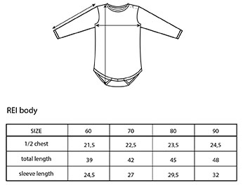 Vimma Sizing and care instructions -