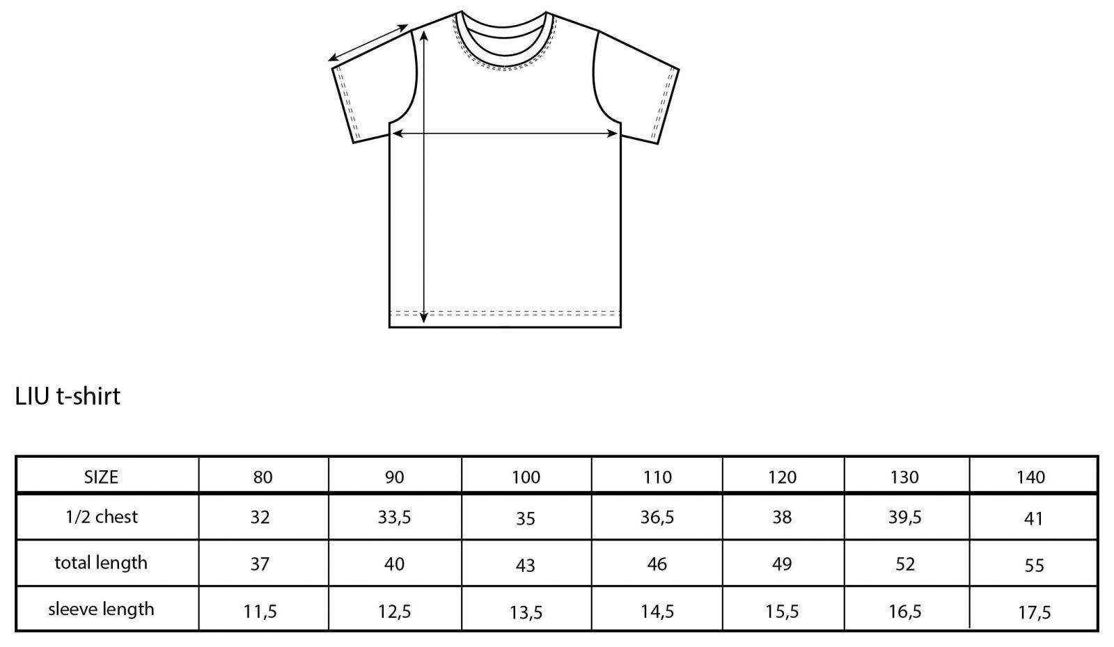 Vimma t-shirt LIU letti Pilvi 80-140cm - 80-140cm, braid, LIU, Pilvi, t-shirt