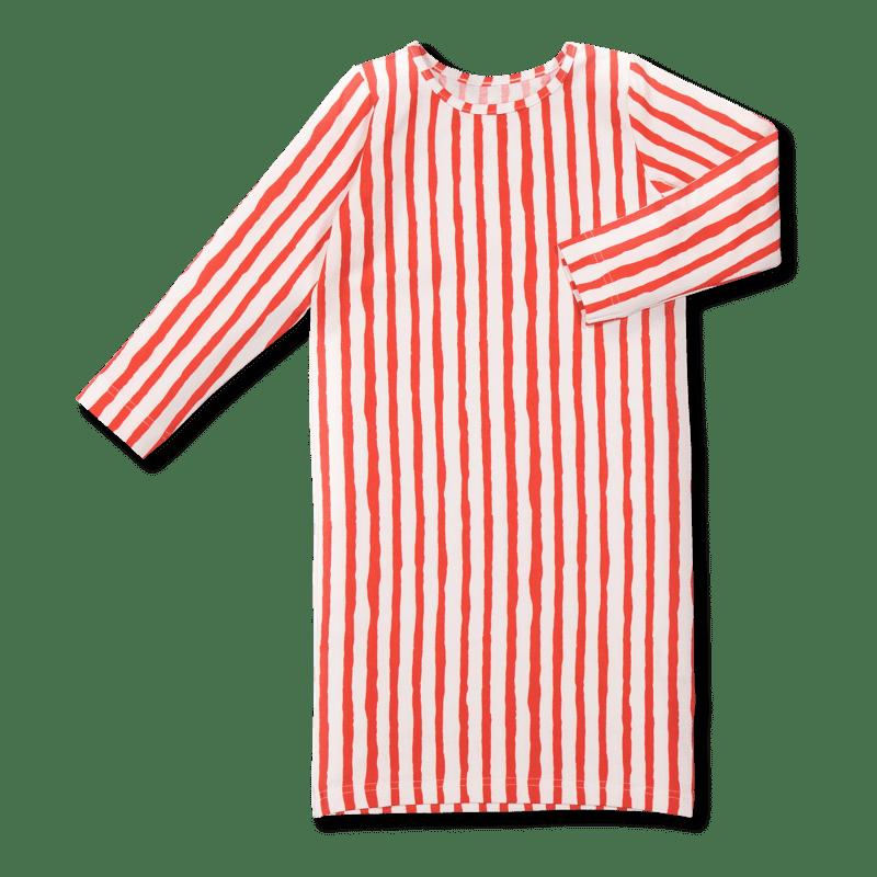 Vimma Maxi dress AAVA Poppariraita red-white 100-150 - 100-150, AAVA, Maxi dress, Poppariraita, red-white