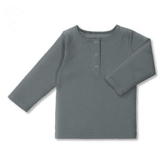 Vimma Snapper shirt OLA one-colored waffle grey 80-140cm - 80-140cm, OLA, one-colored, Snapper shirt, waffle grey