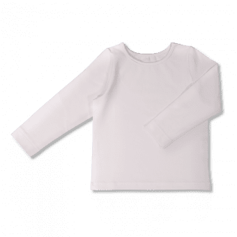 Vimma Long-Sleeve Shirt PAU one-colored white 80-140cm - 80-140cm, Long-Sleeve Shirt, one-colored, PAU, white