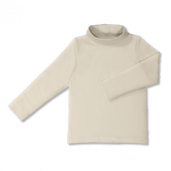 Vimma Long sleeved polo neck shirt MAI one-colored natural white 100-150cm - 100-150cm, Long sleeved polo neck shirt, MAI, natural white, one-colored