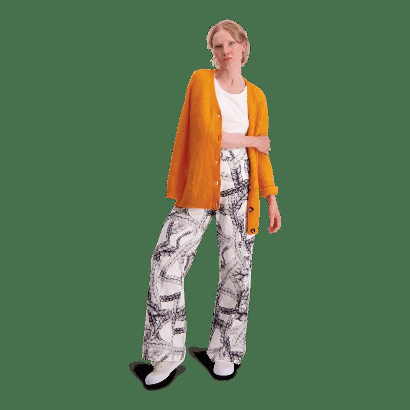 Vimma trousers   ILONA   Letti   black-white   S-L - black-white, ILONA, letti, S-L, trousers