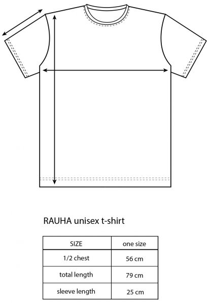 Vimma T-shirt Unisex RAUHA one-colored black Onesize - black, one-colored, Onesize, RAUHA, T-shirt / Unisex