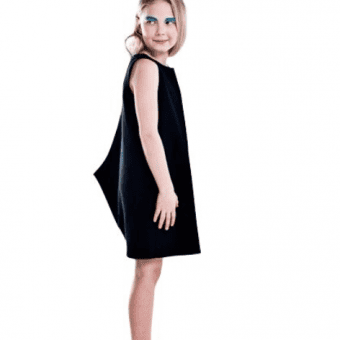 Vimma Dress Shark one-colored black 90-140cm - 90-140cm, black, Dress, one-colored, Shark