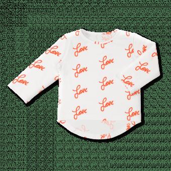 Vimma Long sleeved UTU Love white-red 80-140cm - 80-140cm, Long sleeved, love, UTU, white-red