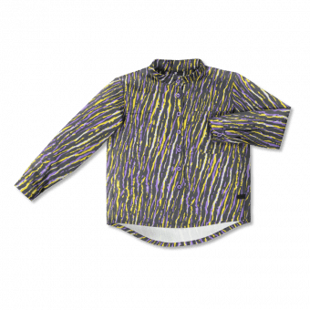 Vimma Botton-up shirt VEIKKO African Stripes lilac-yellow 90-150 cm - 90-150 cm, African Stripes, Botton-up shirt, lilac-yellow, VEIKKO