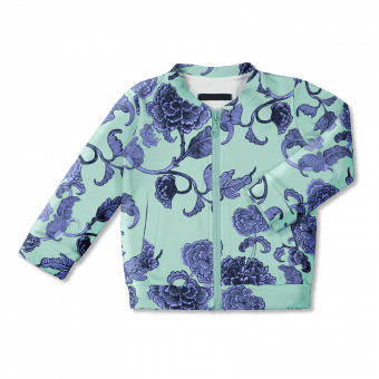 Vimma Bomber jacket   MIIKO   Kiinanruusu   mint   80-140 cm - 80-140 cm, Bomber jacket, Kiinanruusu, MIIKO, mint