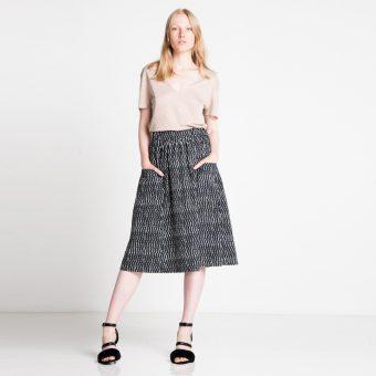 Vimma Skirt SANELMA Liikenne black-white Onesize - black-white, Liikenne, Onesize, SANELMA, Skirt