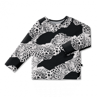 Vimma Long-Sleeve Shirt   PAU   Leopardi   black-colourful   80-140cm - 80-140cm, black-colourful, Leopardi, Long-Sleeve Shirt, PAU