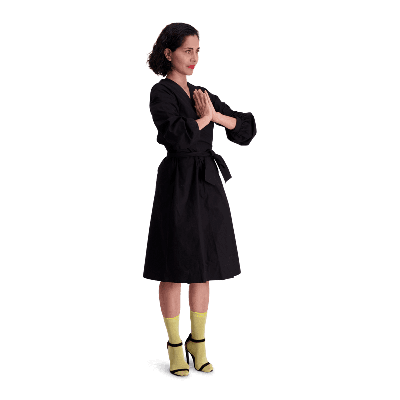 Vimma Wrapped Dress INKERI one-colored black Onesize - black, INKERI, one-colored, Onesize, Wrapped Dress
