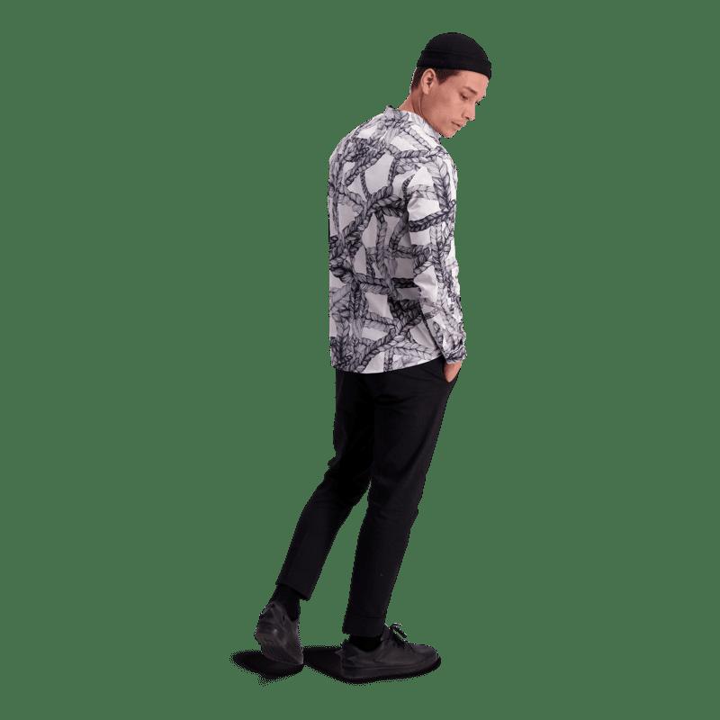 Vimma Shirt ROOPE Letti black-white XS-L - black-white, braid, ROOPE, Shirt, XS-L