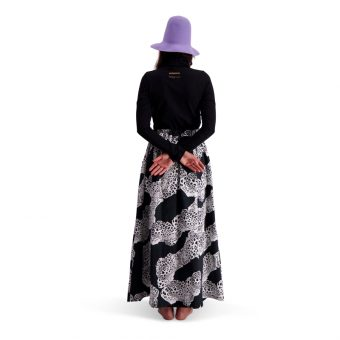 Vimma Skirt Long SYLVI African Stripes black-white Onesize - African Stripes, black-white, Onesize, Skirt / Long, SYLVI