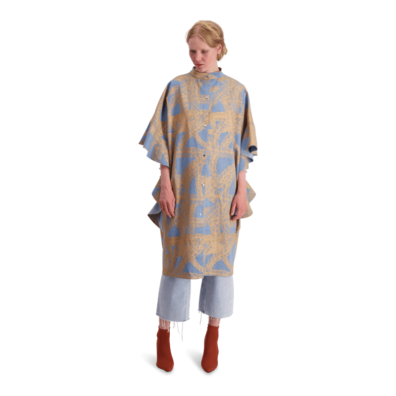 Vimma Ruffle Dress IRINA letti blue-gold Onesize - blue-gold, IRINA, letti, Onesize, Ruffle Dress