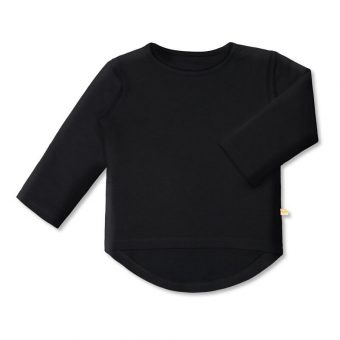 Vimma Long sleeved Bamboo UTU one-colored black 80-140cm - 80-140cm, black, Long sleeved Bamboo, one-colored, UTU