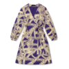 Vimma Wrapped Dress INKERI Letti lila-gold Onesize - INKERI, letti, lila-gold, Onesize, Wrapped Dress