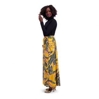 Vimma Skirt Long SYLVI Paradise chaps yellow-green Onesize - Onesize, Paradise chaps, Skirt / Long, SYLVI, yellow-green