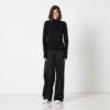 Vimma trousers ILONA one-colored black S-L - black, ILONA, one-colored, S-L, trousers