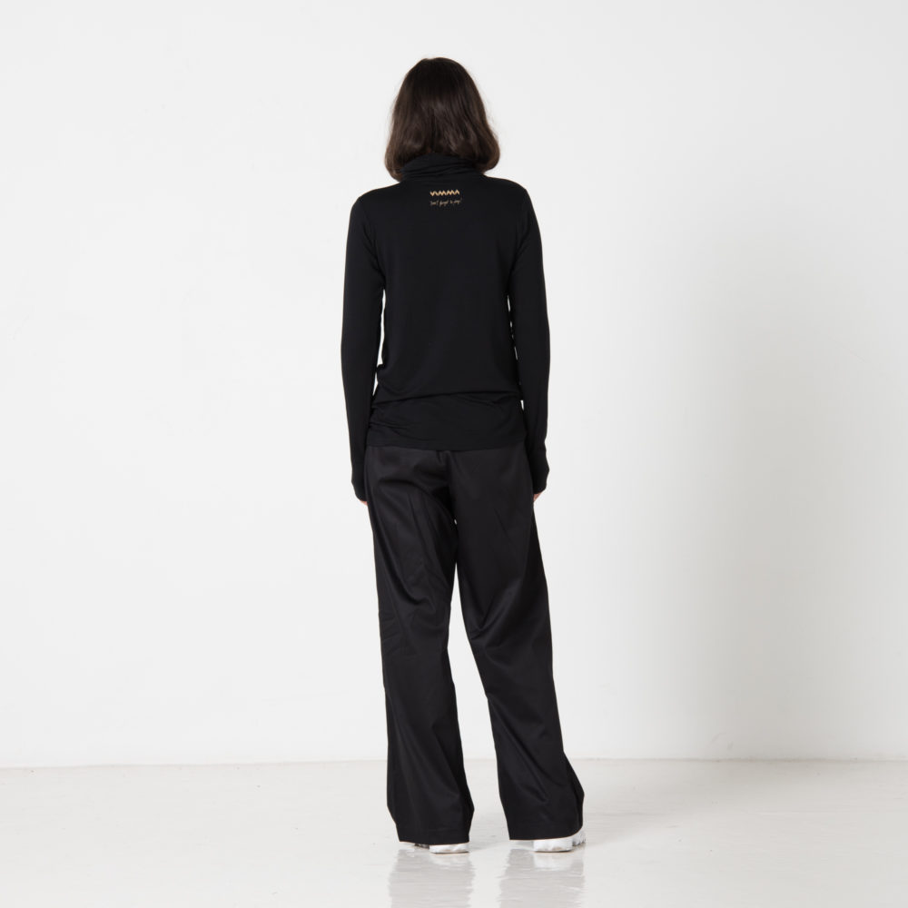 Vimma trousers ILONA one-colored black S-L - black, ILONA, one-colored, S-L, trousers