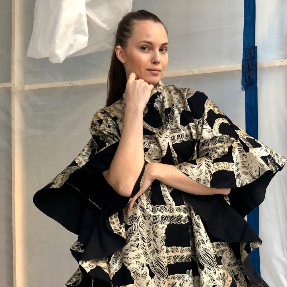 Vimma Ruffle Dress   IRINA   Letti   black-gold   Onesize - black-gold, braid, IRINA, Onesize, Ruffle Dress