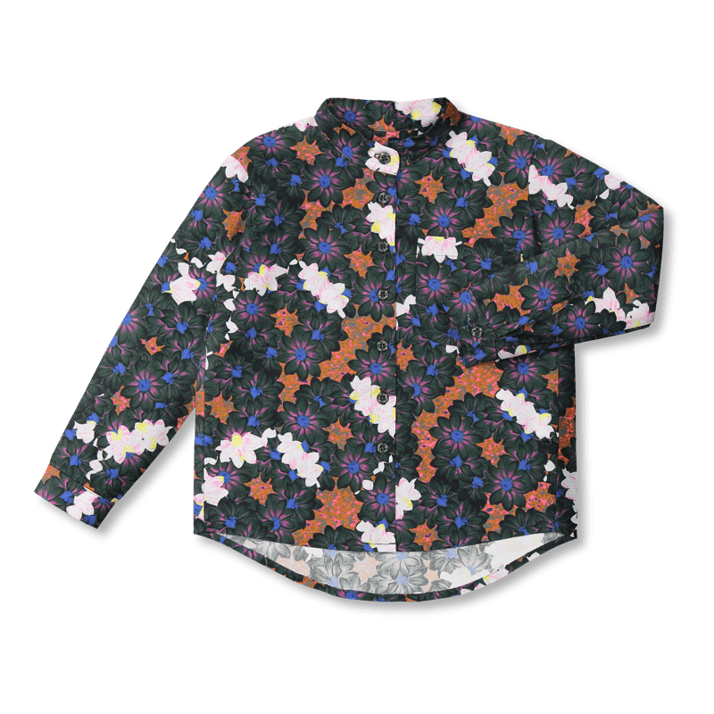 Vimma Botton-up shirt VEIKKO Seppeleet dark 90-150 cm - 90-150 cm, Botton-up shirt, dark, Seppeleet, VEIKKO