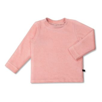 Vimma Long-Sleeve Shirt PAU Velour Teddy pink 80-140cm - 80-140cm, Long-Sleeve Shirt, PAU, Teddy pink, Velour