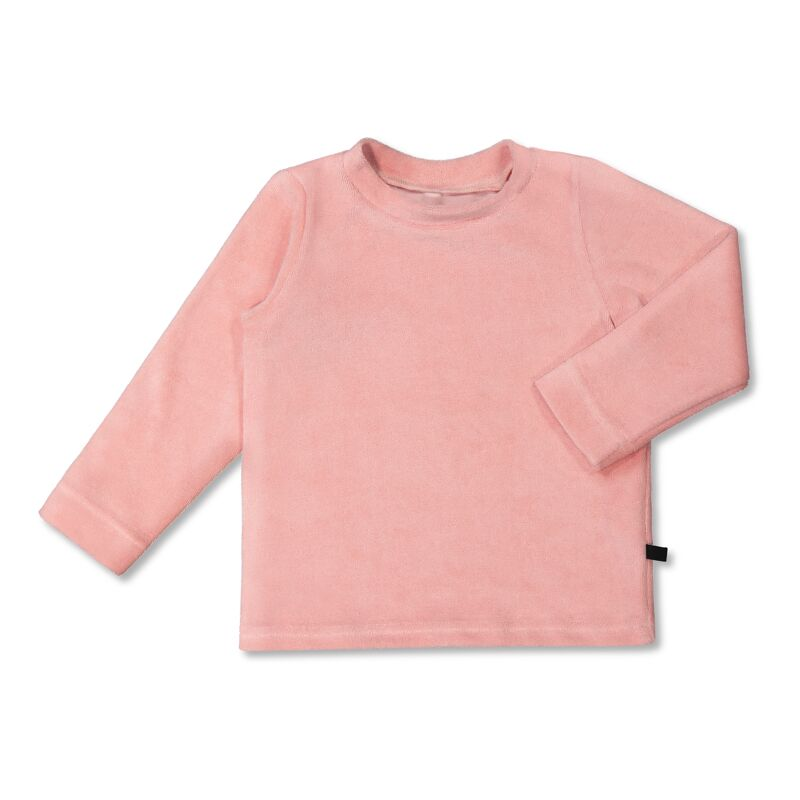 Vimma Long-Sleeve Shirt PAU Velour Teddy pink 80-140cm - 80-140cm, Long-Sleeve Shirt, PAU, Teddy pink, Velour