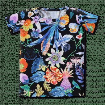 Vimma T-shirt dress UNNA Mystical Flower col1 90-160 cm - 90-160 cm, col1, Mystical Flower, t-shirt-dress, UNNA