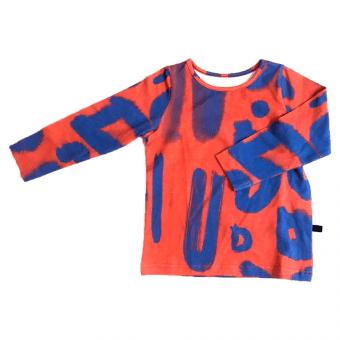 Vimma Long-Sleeve Shirt PAU blurri red-blue 80-140cm - 80-140cm, blurri, Long-Sleeve Shirt, PAU, red-blue