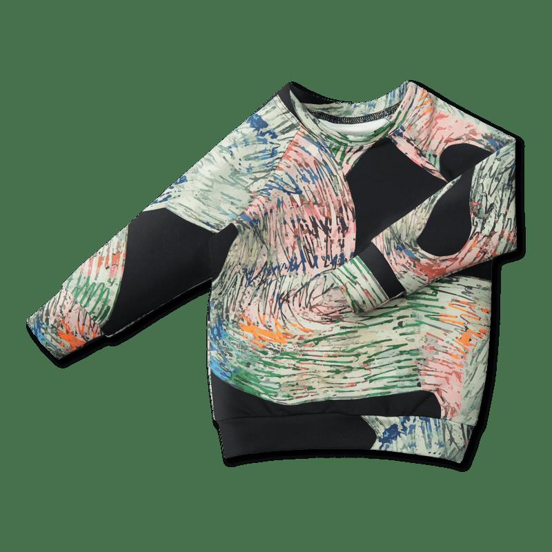 Vimma sweatshirt RIA Mutkat black-colorful 90-160 cm - 90-160 cm, black-colorful, Mutkat, RIA, sweatshirt