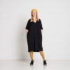 Vimma V-neck dress VEERA one-colored black bamboo Onesize - black bamboo, one-colored, Onesize, V-neck dress, VEERA