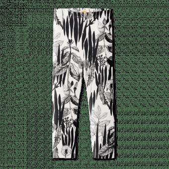 Vimma leggins ELO rikkaruohot black-white 80-150cm - 80-150cm, black-white, ELO, leggins, rikkaruohot