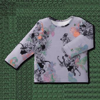 Vimma Long-Sleeve Shirt PAU Sademetsän suojissa col2 80-140cm - 80-140cm, col2, Long-Sleeve Shirt, PAU, Sademetsän suojissa