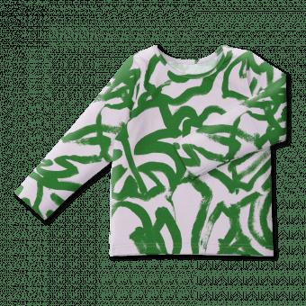 Vimma Long-Sleeve Shirt PAU Peikonlehti lilac-green 80-140cm - 80-140cm, lilac-green, Long-Sleeve Shirt, PAU, Peikonlehti