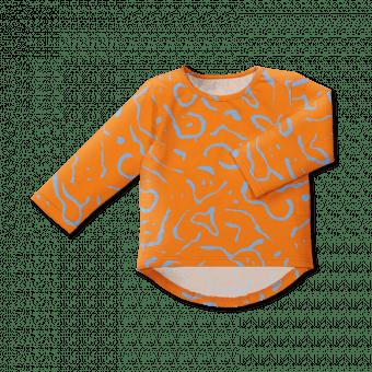 Vimma Long sleeved UTU Dancing creatures orange 80-140cm - 80-140cm, Dancing creatures, Long sleeved, orange, UTU