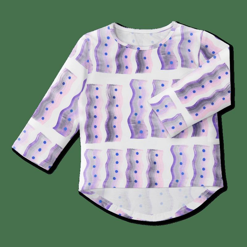 Vimma Long-Sleeve Shirt PAU Fukushima white-colorful 80-140cm - 80-140cm, Fukushima, Long-Sleeve Shirt, PAU, white-colorful