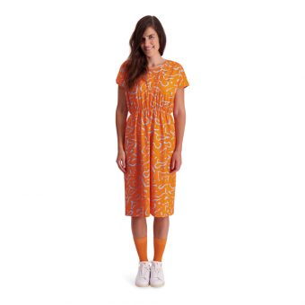 Vimma Dress VIENO Dancing creatures orange Onesize - Dancing creatures, Dress, Onesize, orange, VIENO