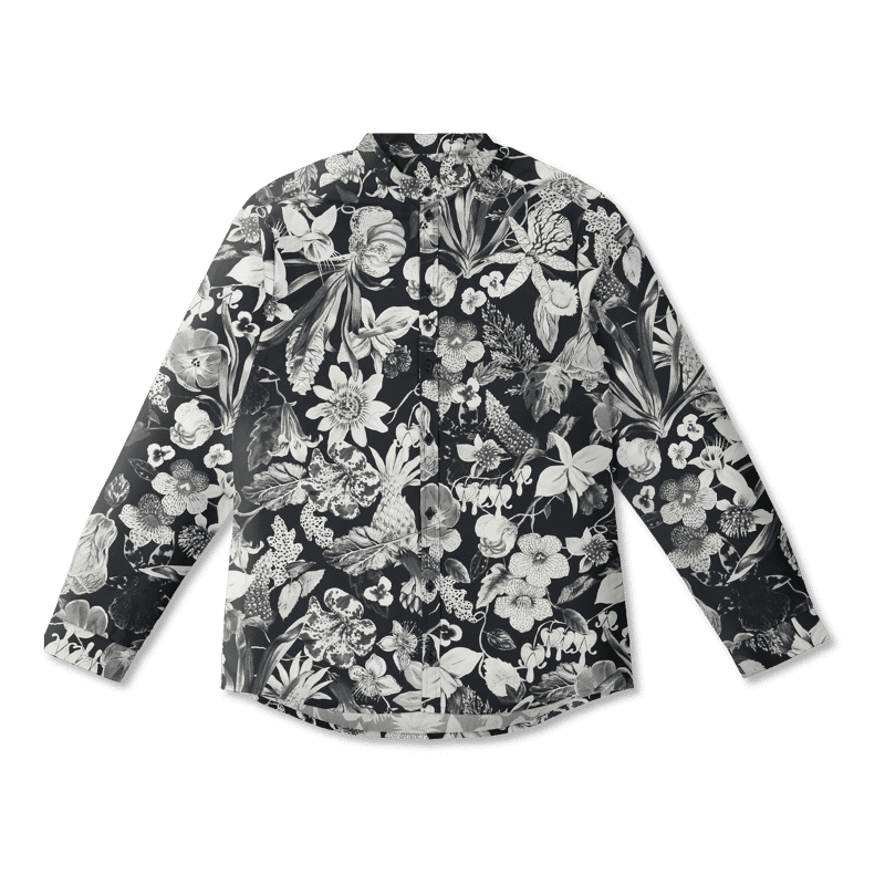 Vimma Shirt ROOPE Mystical flowers black XS-L - black, mystical-flowers, ROOPE, Shirt, XS-L