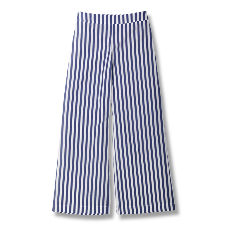 Vimma trousers ILONA Striped white-blue S-L - ILONA, S-L, Striped, trousers, white-blue