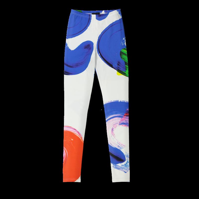 Vimma leggings KAINO Maaliprintti white-colorful XS-XL - KAINO, leggings, Maaliprintti, white-colorful, XS-XL