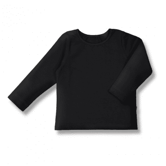 Vimma Long-Sleeve Shirt PAU one colored black 80-140cm - 80-140cm, black, Long-Sleeve Shirt, one-colored, PAU