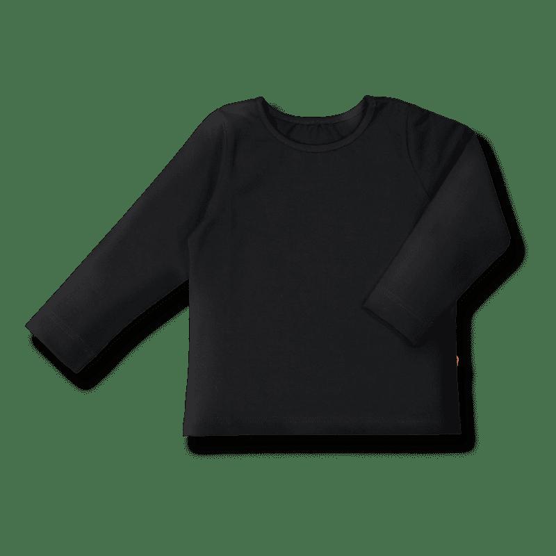 Vimma Long-Sleeve Shirt PAU one colored black 80-140cm - 80-140cm, black, Long-Sleeve Shirt, one-colored, PAU