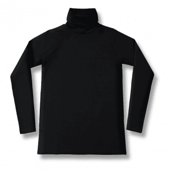 Vimma Long sleeved polo neck shirt RAIJA bamboo one colored black S-M - Bamboo, Long sleeved polo neck shirt, one-colored black, RAIJA, S-M