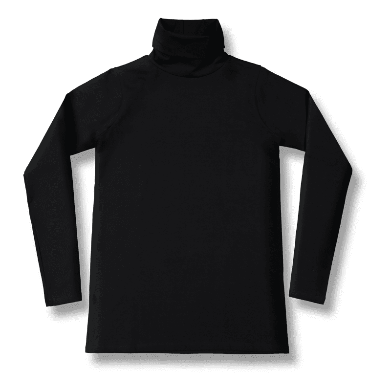 5c68f2da20 Vimma Long sleeved polo neck shirt RAIJA bamboo one colored black S-M -  Bamboo