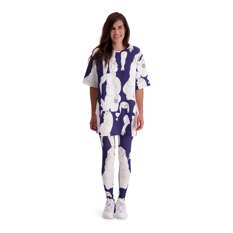 Vimma leggings KAINO Hahmot blue-white XS-XL - blue-white, Hahmot, KAINO, leggings, XS-XL