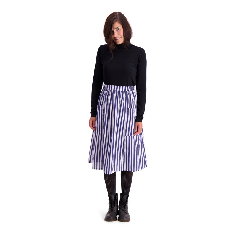 Vimma Skirt SANELMA Striped white-blue Onesize - Onesize, SANELMA, Skirt, Striped, white-blue