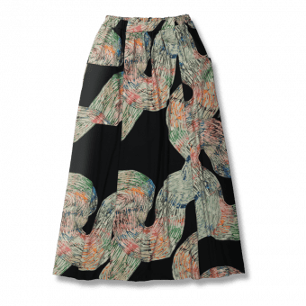 Vimma Skirt Long SYLVI Mutkat black-colourful Onesize - black-colourful, Mutkat, Onesize, Skirt / Long, SYLVI